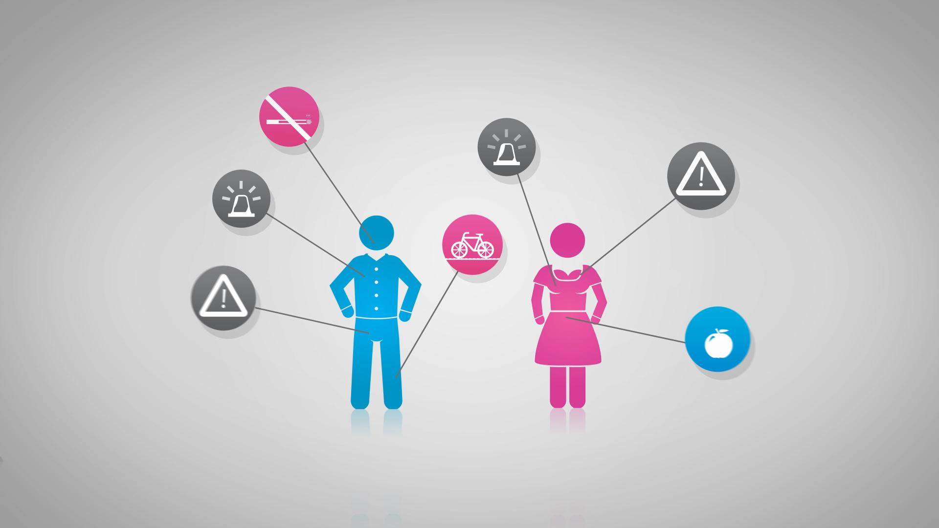 Krebsvorsorge Animation Mammographie