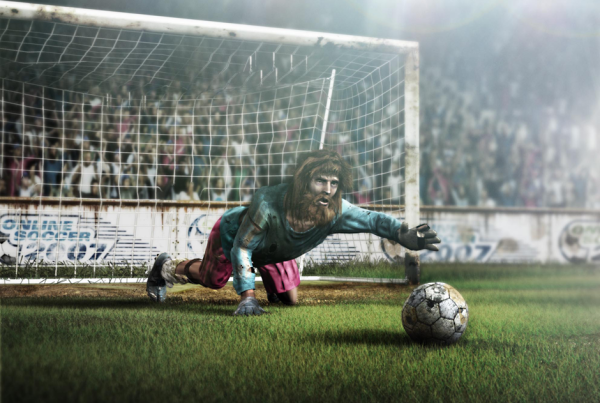 dumobile postproduction cgi soccer player heroes over time