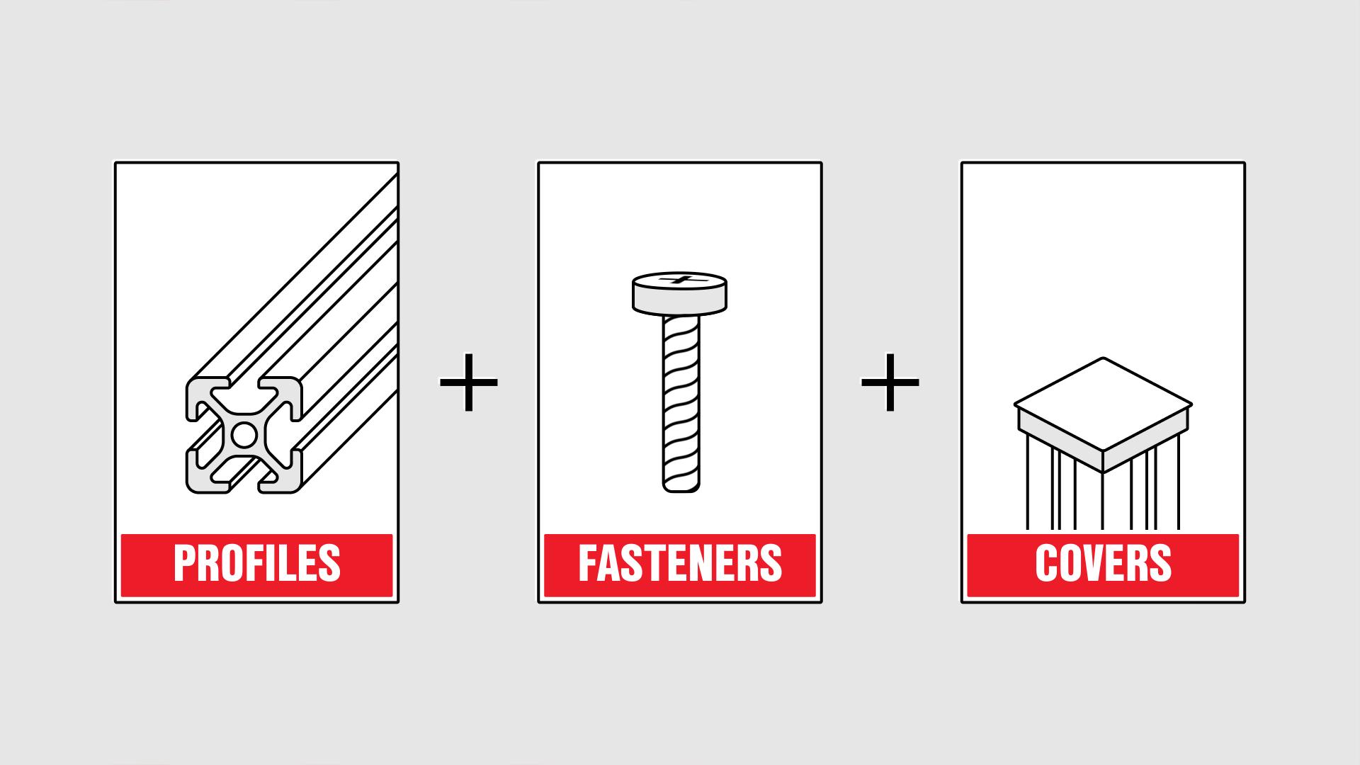 item24 – aluminium profile animation fasteners covers
