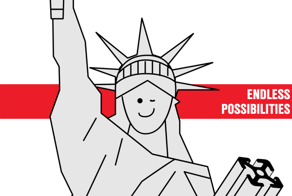 item24 – aluminium profile animation statue of liberty