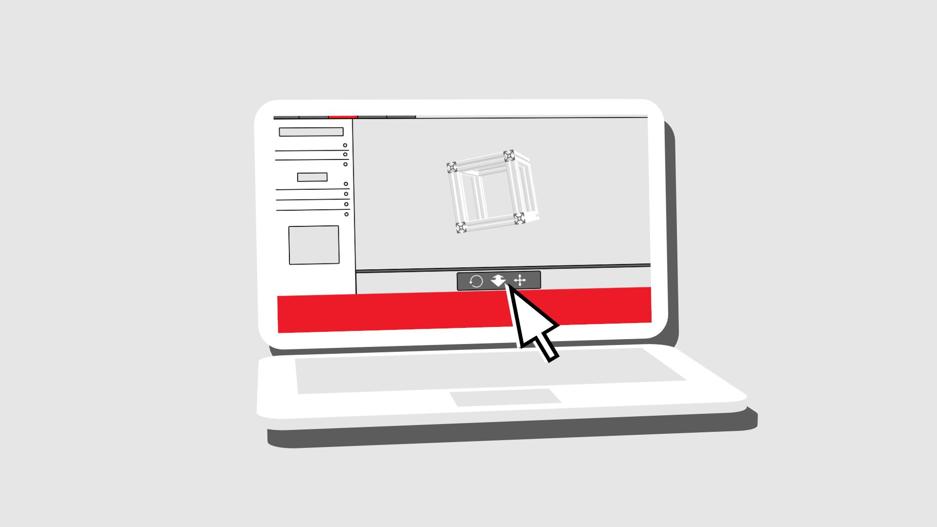 item24 – aluminium profile animation notebook
