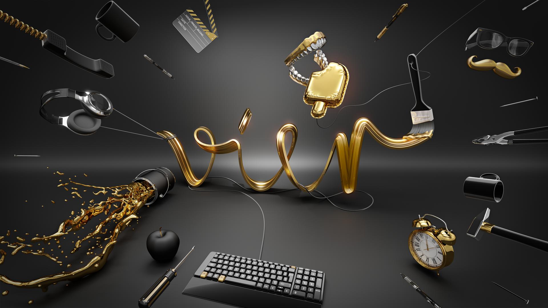 CGI Type Illustration