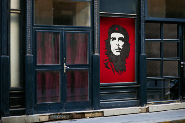 poster che guevara studioastic street mockup