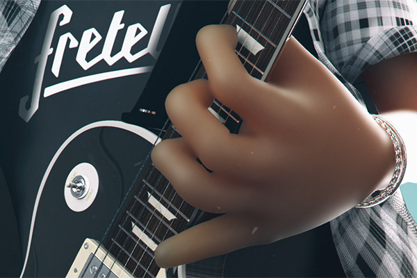 studioastic slash portrait illustration CGI guns n roses saul hudson guitar fretello